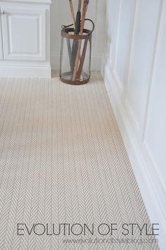 herringbone carpet #CarpetRunners