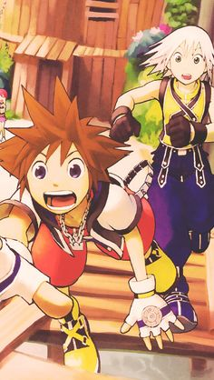 I always thought it was so sweet how Riku looks after Sora :]. Except when Riku tries to kill him...