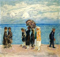 Promeneurs au Bord de la Mer, 1916 (oil on canvas), Bonnard, Pierre (1867-1947)