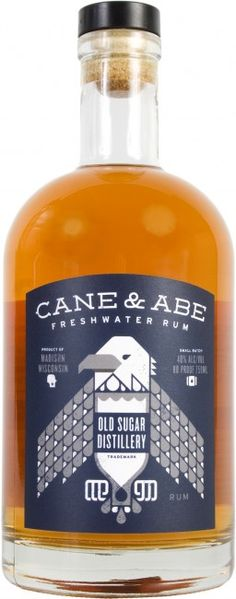 Cane & Abe Freshwater Rum. Made with sugar cane grown in Louisiana and Hawaii.