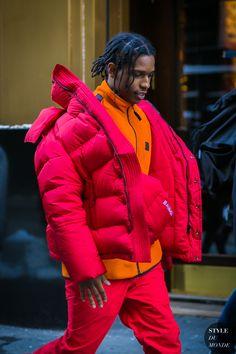 ASAP Rocky after the Calvin Klein fashion show. Street Style 2017, Casual Street Style, Street Styles, Asap Rocky Outfits, Men Street, Street Chic, Street Wear, Fashion Killa, Mens Fashion