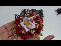 Par de Moños Navideños de liston faciles y economicos,How To Make A Hair Bow tutorial - YouTube