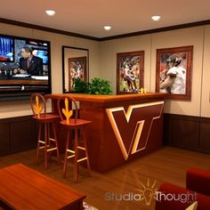 Virginia Tech Hokie Den. A must have in the family home one day!