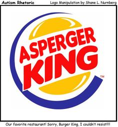 Autism Rhetoric: Asperger King logo: Love it, soo fitting for my son!