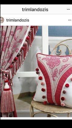 #trimming #tassel #pompom #trimland #curtain  # pillow