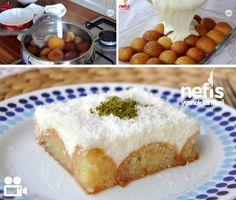 MUHALLEBİLİ KEMALPAŞA TATLISI:              Malzemeler 1 paket kemalpaşa tatlısı (25 adet) Muhallebisi için: 5 su bardağı süt 2 dolu yemek kaşığı mısır nişastası 2 dolu yemek kaşığı un 6 yemek kaşığı şeker 2 yemek kaşığı hindistan cevizi 1 paket vanilya    YAPILIŞI İÇİN: http://www.nefisyemektarifleri.com/video/muhallebili-kemalpasa-tatlisi/