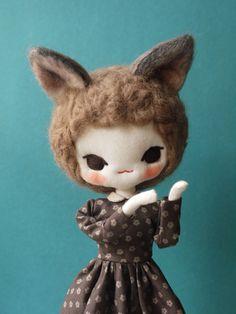 Miss Meatball #doll #craft #handmade