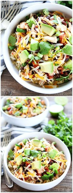 Slow Cooker Mexican Chicken Recipe on http://twopeasandtheirpod.com Let your crockpot make you dinner! This easy chicken is great served over rice or used to make tacos, burritos, or salads!