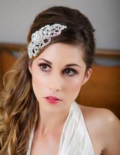 wedding headpieces hair down - Google Search