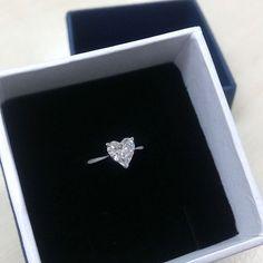 Solitaire Heart Shape Diamond Ring #iadjewellery #wedding #celebration: