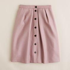 J.Crew Womens Flair Skirt In Double-Serge Wool (