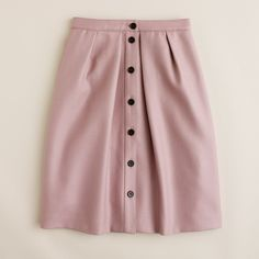 J.Crew Womens Flair Skirt In Double-Serge Wool (
