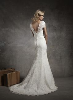 Lace Cap Sleeves Sweetheart Wedding Dress 2013 with Sweep Train Wedding Dress 2013, Sweetheart Wedding Dress, Blue Wedding Dresses, Lace Mermaid Wedding Dress, Gorgeous Wedding Dress, Bridal Dresses, Wedding Gowns, Prom Dresses, Dream Wedding