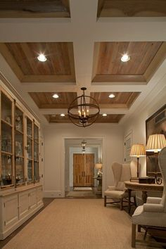 kitchen coffered ceiling | Coffered ceiling