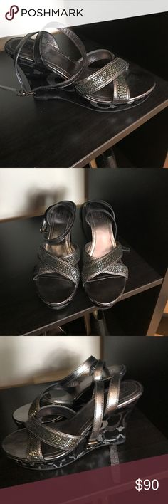 Coach shoes size 9 Coach wedge shoes size 9 new never worn Coach Shoes Wedges
