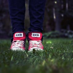 "Converse are always some of the coolest ""shoes in the grass"" pictures"