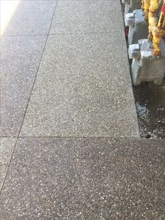 Exposed aggregate concrete sidewalk at the new Art Gallery - Cleveland, Oh