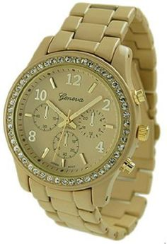 Geneva Platinum Women's 9073.Gold Gold Stainless-Steel Quartz Watch with Gold Dial Geneva. $25.97. Mineral Crystal. Quartz Movement. 35mm Case Diameter. Save 48%!