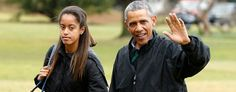 Obama: Climate change became personal when Malia was rushed to ER. (Reuters)