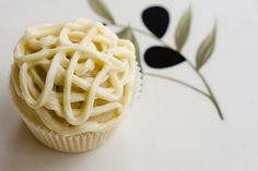 Basil Infused Olive Oil Cupcakes with White Wine