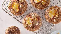 Pear and Orange Muffins Pear Muffins, Orange Muffins, Healthy Muffins, Pear Recipes, Muffin Recipes, Baby Food Recipes, Whole Grain Foods, Homemade Muffins, Unsweetened Applesauce