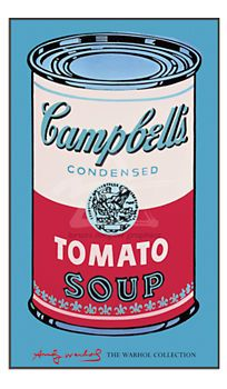 Warhol, Campbell's Soup Can, Pink and Red - Wall Art - Accessories - Room & Board. by dining table