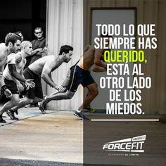 Todo lo que siempre has querido, está al otro lado de los miedos. #Forcefit #Crossfit #Running #Run #Friends #WOD #Box #Miedos #Esfuerzo #Amigos #Sprint