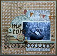 Me and Tom scrapbook layout by Jen