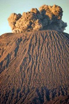 The Peak of Mt Semeru, Java - Active volcano