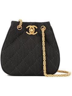 43d4226aa6b60a Chanel Vintage Turnlock Textured Shoulder Bag - Farfetch