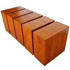 "Walnut ""Cubes"" Coffee Table"