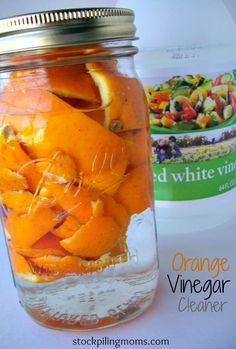 Orange Vinegar Cleaner - MUST try this! Husband hates the smell of vinegar & a lot of homemade cleaning recipes call for it. Homemade Cleaning Products, Cleaning Recipes, Natural Cleaning Products, Cleaning Hacks, Cleaning Solutions, Cleaning Supplies, Household Cleaners, Diy Cleaners, Cleaners Homemade