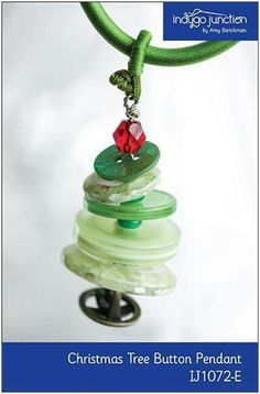 You're going to love Christmas Tree Button Pendant/Ornament by designer Indygo Junction. Button Ornaments, Christmas Buttons, Ornament Crafts, Christmas Jewelry, Holiday Crafts, Kids Ornament, Diy Ornaments, Christmas Tree Decorations, Christmas Tree Ornaments