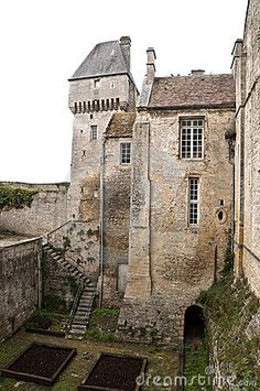 Medieval castle in Creully in France