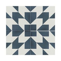 Oujda Handmade Moroccan Blue/ White Cement Tiles (Case of 12) | Overstock.com Shopping - The Best Deals on Accent Pieces