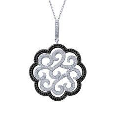 $415 Black & White Fancy Lafonn pendant