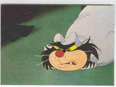 Walt Disney's Cinderella trading card starring Villain Lucifer the Cat