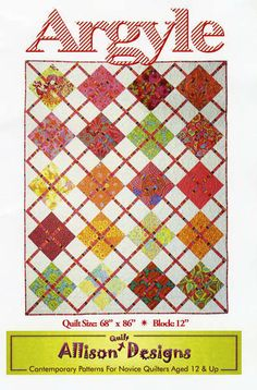 "So Adorable!  ""Argyle"" Pattern by Allison Quilt Designs"