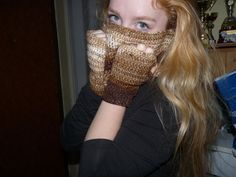 crochet scarf and gloves