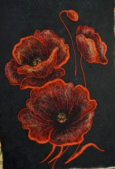 Nuno Felting, Needle Felting, Wet Felting Projects, Learning To Embroider, Felt Pictures, Nuno Felt Scarf, Noctis, Flower Embroidery Designs, Wool Art