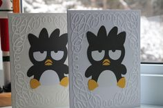 Penguin Note Cards  4.25 x 5.5 inches by AllOnAHeartString on Etsy