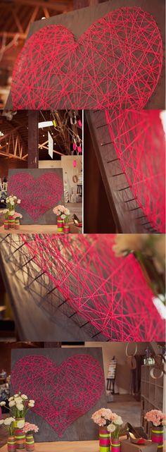 Cool Heart DIY String Art Tutorial | http://www.jexshop.com/