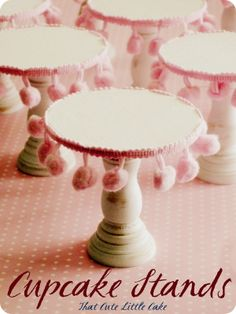 Mini Cupcake Stands #howto #tutorial