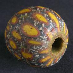 Ancient JATIM GLASS BEAD. ø 19,7 mm. 6-9th century. EAST JAVA, INDONESIA