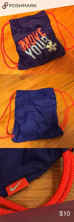 NWOT Nike Move Your * Drawstring Bag Never used, slightly wrinkled Nike Bags