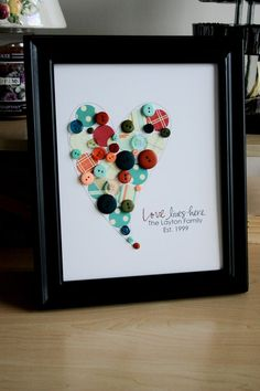 button heart  I will be doing this for my home soon.  Love it