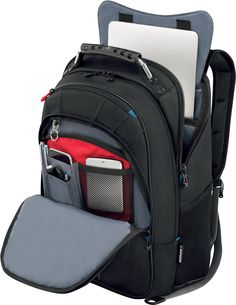 4542f8000fb SwissGear Carbon II Black Notebook Backpack-Fits Apple Macbook Pro 15 inch  and 17 inch