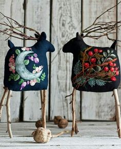 Embroidery for Beginners & Embroidery Stitches & Embroidery Patterns & Embroidery Funny & Machine Embroidery Christmas Projects, Christmas Wreaths, Christmas Crafts, Christmas Ornaments, Wool Applique Patterns, Embroidery Patterns, Felt Christmas Decorations, Free Machine Embroidery Designs, Primitive Christmas