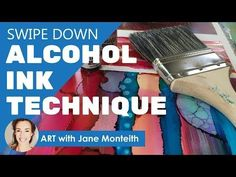 Alcohol Ink Brush Technique Tutorial - YouTube