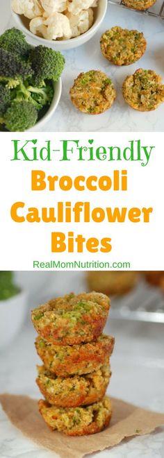 Broccoli and Cauliflower Bites via @https://www.pinterest.com/rmnutrition/